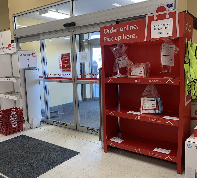 Office Depot BOPIS display