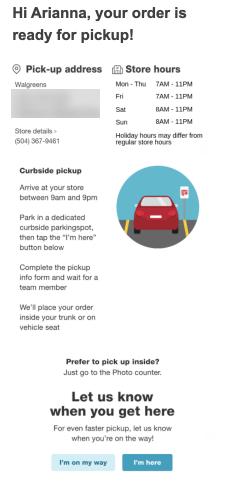 Walgreens pickup instructions BOPIS